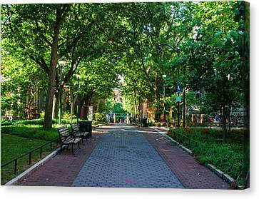 Canvas Print featuring the photograph University Of Pennsylvania Campus - Philadelphia by Bill Cannon