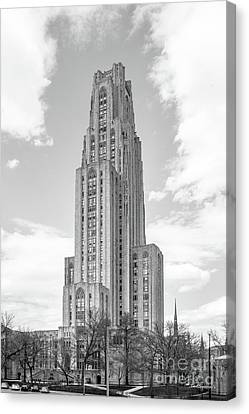 University Of Pittsburgh Cathedral Of Learning Canvas Print by University Icons