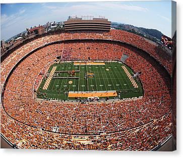 Ncaa Canvas Print - University Of Tennessee Neyland Stadium by University of Tennessee Athletics