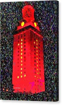 University Of Texas Canvas Print - University Of Texas At Austin Tower 11 - Pa by Leonardo Digenio