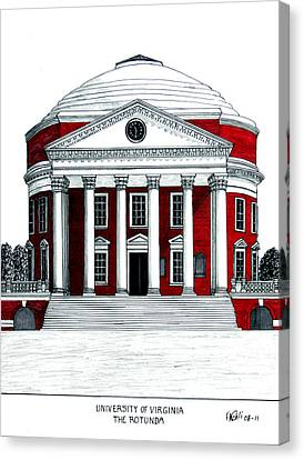 University Of Virginia Canvas Print by Frederic Kohli