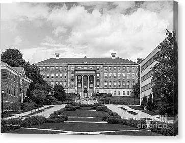 University Of Wisconsin Madison Agricultural Hall Canvas Print by University Icons