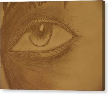 Unknown Eyes Of Judgment Canvas Print by Joshua Massenburg