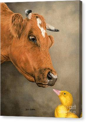 Friends Come In All Sizes Canvas Print by Sarah Batalka