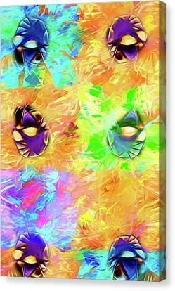 Canvas Print featuring the digital art Unmasked by John Haldane