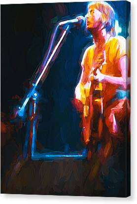 Canvas Print featuring the painting Unplugged by Bob Orsillo