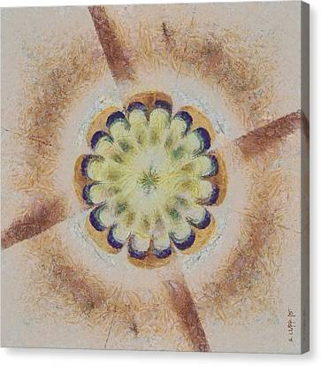 Merging Canvas Print - Unrealise Architecture Flowers  Id 16163-141139-83960 by S Lurk