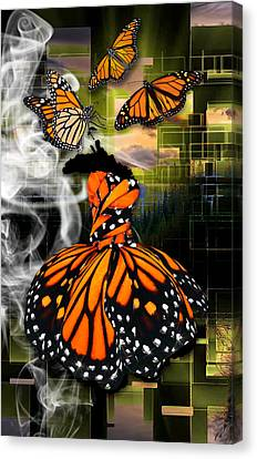 Canvas Print featuring the mixed media Unrestricted by Marvin Blaine