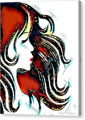Canvas Print featuring the digital art Unrestricted-abstract by Pennie McCracken