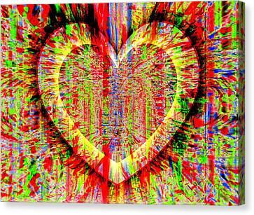 Unsettled Heart Canvas Print by Fania Simon