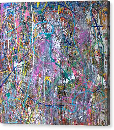 Canvas Print featuring the painting Untitled - Abstract by Robert Anderson