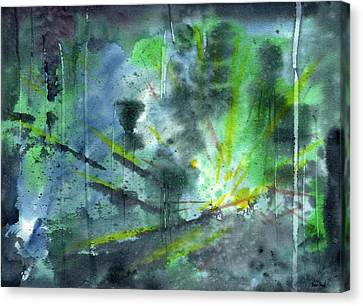 Untitled Abstract Watercolor Canvas Print by Sean Seal