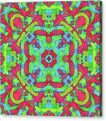 Untitled -b- Soup -pattern- Canvas Print by Coded Images