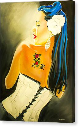 Untitled Beauty  Canvas Print by Chris  Leon