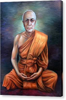 Canvas Print featuring the painting Untitled by Chonkhet Phanwichien
