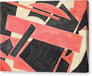 Untitled Composition Canvas Print by Lyubov Sergeevna Popova