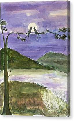 Canvas Print featuring the painting Untitled by Geeta Biswas