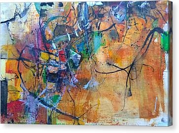 Canvas Print featuring the painting Untitled Or Ink Flow by Robert Anderson