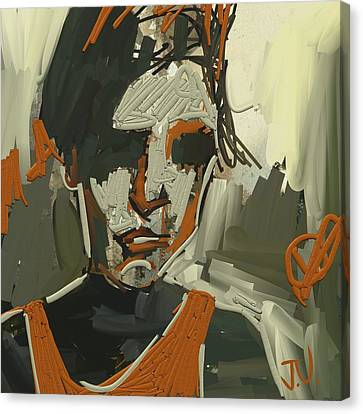 Canvas Print featuring the digital art Untitled Portrait - 29oct2017 by Jim Vance