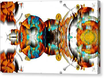 Canvas Print featuring the digital art Untitled Series 992.042212 -b by Kris Haas