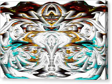 Canvas Print featuring the digital art Untitled Series 992.042212 by Kris Haas
