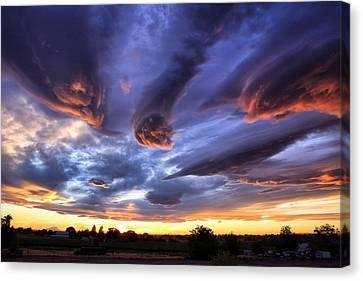Alien Cloud Formations Canvas Print