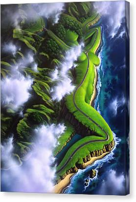 West Coast Canvas Print - Unveiled by Jerry LoFaro