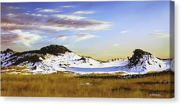 Canvas Print featuring the painting Unwalked by Rick McKinney