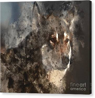 Canvas Print featuring the digital art Unwavering Loyalty by Elaine Ossipov
