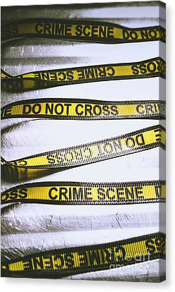 Unwrapping A Murder Investigation Canvas Print by Jorgo Photography - Wall Art Gallery