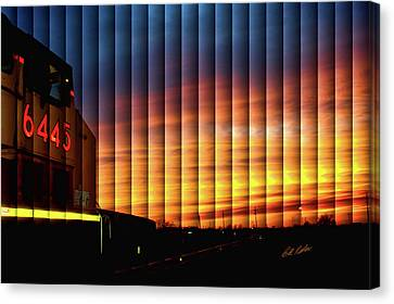 Up 6445 Sunset - The Slat Collection Canvas Print