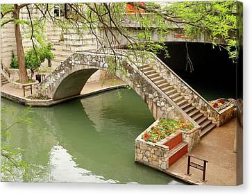 Up And Over - San Antonio River Walk Canvas Print
