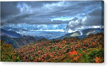 Up In The Clouds Blue Ridge Parkway Mountain Art Canvas Print