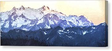 Up In The Mountains II Canvas Print