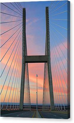 Up On The Bridge Canvas Print