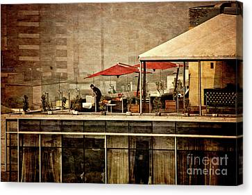 Canvas Print featuring the photograph Up On The Roof - Miraflores Peru by Mary Machare