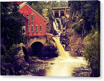 Up River At The Old Mill Canvas Print