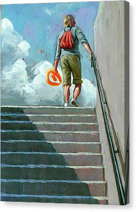 Up Stairs Canvas Print