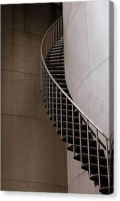 Canvas Print featuring the photograph Up The Down Stairs by Irma BACKELANT GALLERIES