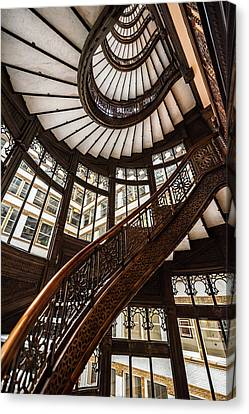 Up The Iconic Rookery Building Staircase Canvas Print