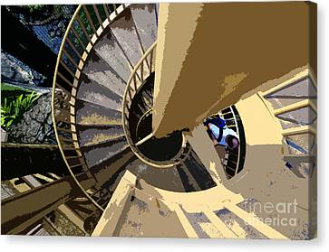 Up The Spiral Staircase Canvas Print by David Lee Thompson