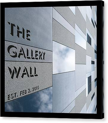 Canvas Print featuring the photograph Up The Wall-the Gallery Wall Logo by Wendy Wilton