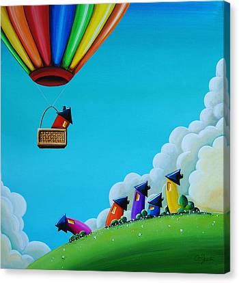 Fun Canvas Print - Up Up And Away by Cindy Thornton