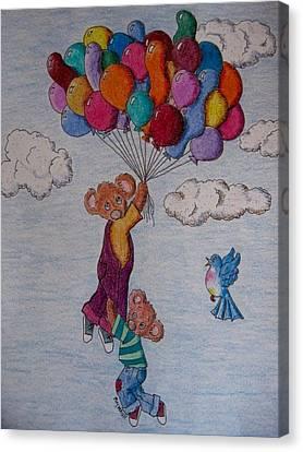 Koala Canvas Print - Up, Up And Oh, Oh by Megan Walsh