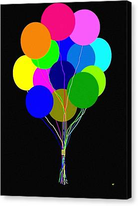 Upbeat Balloons Canvas Print by Will Borden