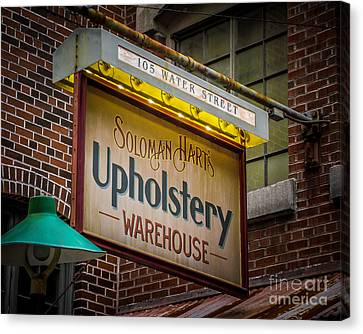 Upholstery Sign Canvas Print by Perry Webster