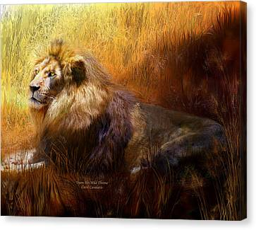 Upon His Wild Throne Canvas Print by Carol Cavalaris