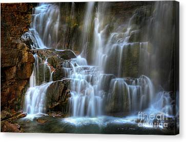 Upper Beartooth Falls Canvas Print by Craig J Satterlee