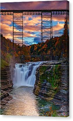 Upper Falls Letchworth State Park Canvas Print by Rick Berk