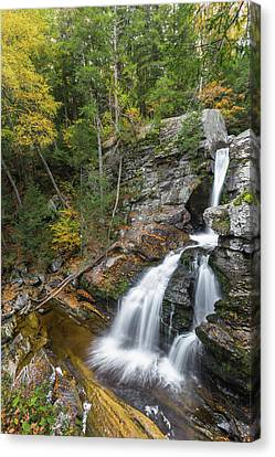 Upper Kent Falls Autumn Canvas Print by Bill Wakeley